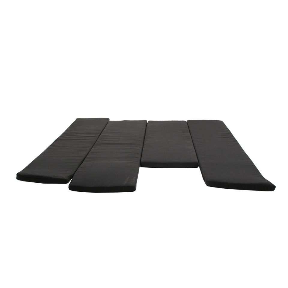 SenS-Line loungekussenset Toronto - zwart - 228x228x89 cm - Leen Bakker