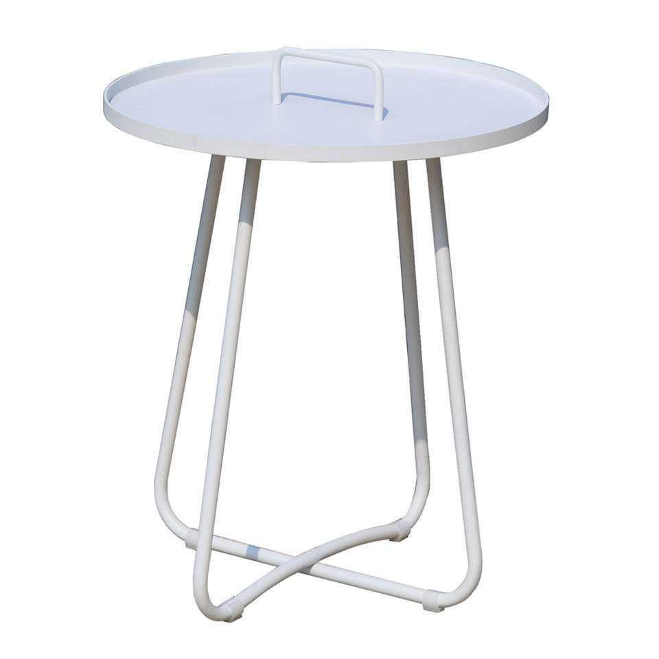 SenS-Line serveertafel Jennifer - wit - Ø50x56cm - Leen Bakker