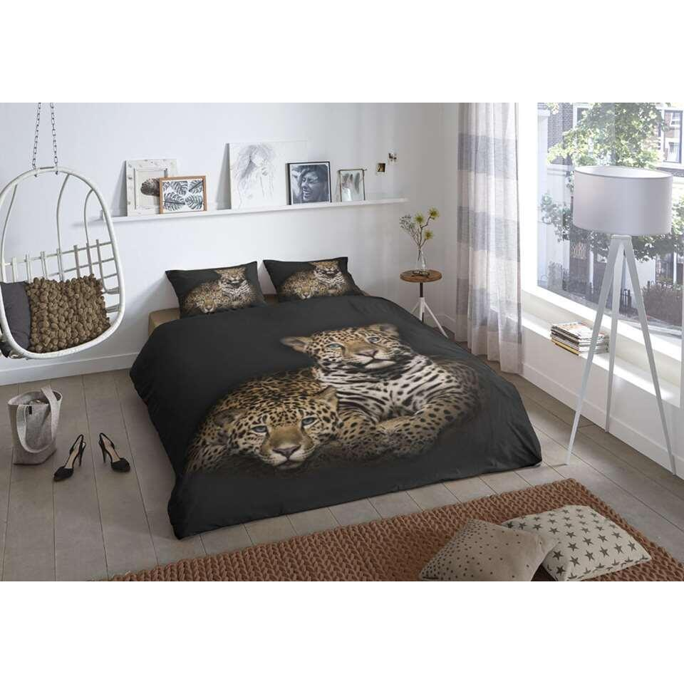 Good morning dekbedovertrek Leopard - multikleur - 200x 200/220 cm