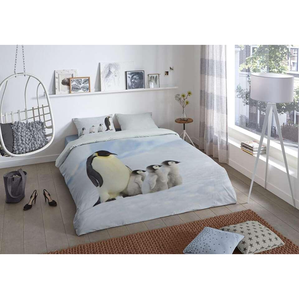 Good morning dekbedovertrek Pinguin - multikleur - 200x200/220 cm - Leen Bakker