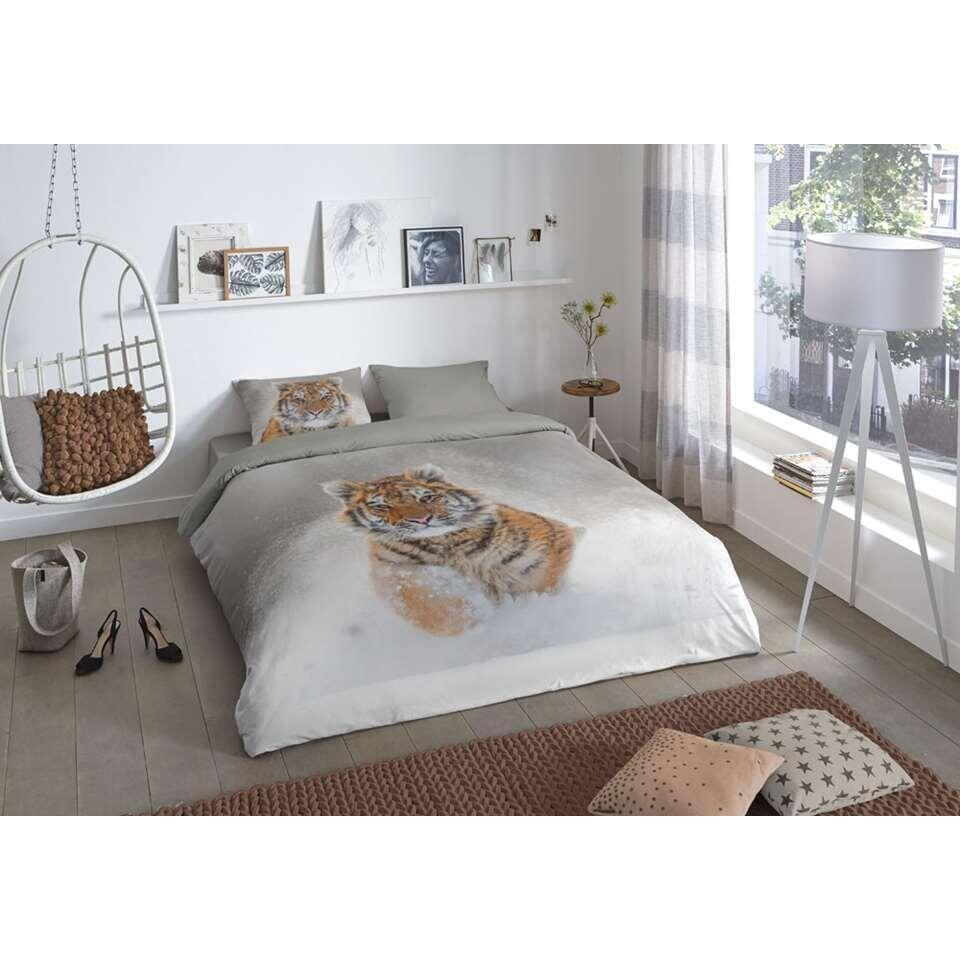 Good morning dekbedovertrek Snow tiger - multikleur - 200x200/220 cm