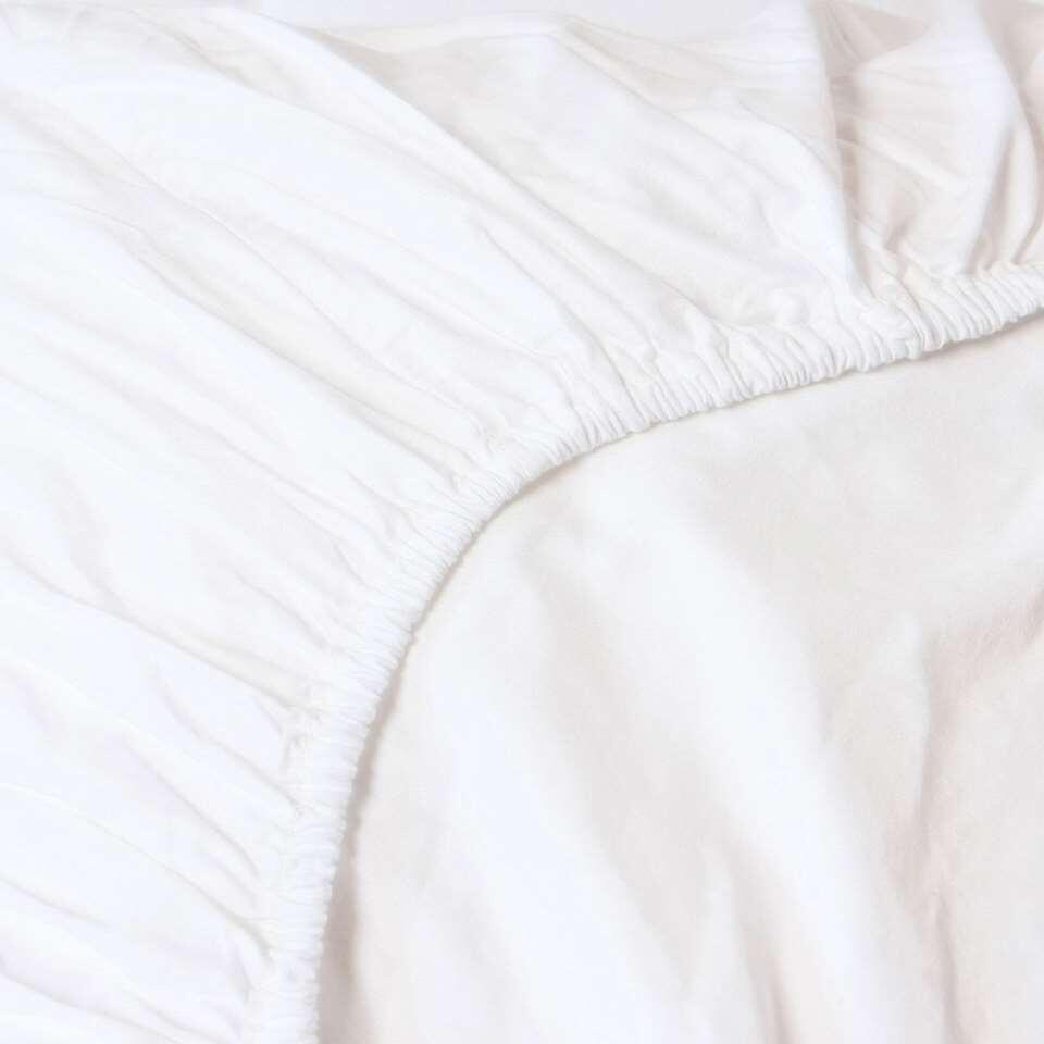 Heckett & Lane hoeslaken White - wit - 80/90x200 cm - Leen Bakker