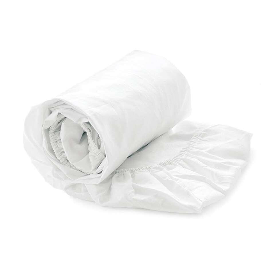 Heckett & Lane split-topper hoeslaken White - wit - 180x210/220 cm - Leen Bakker