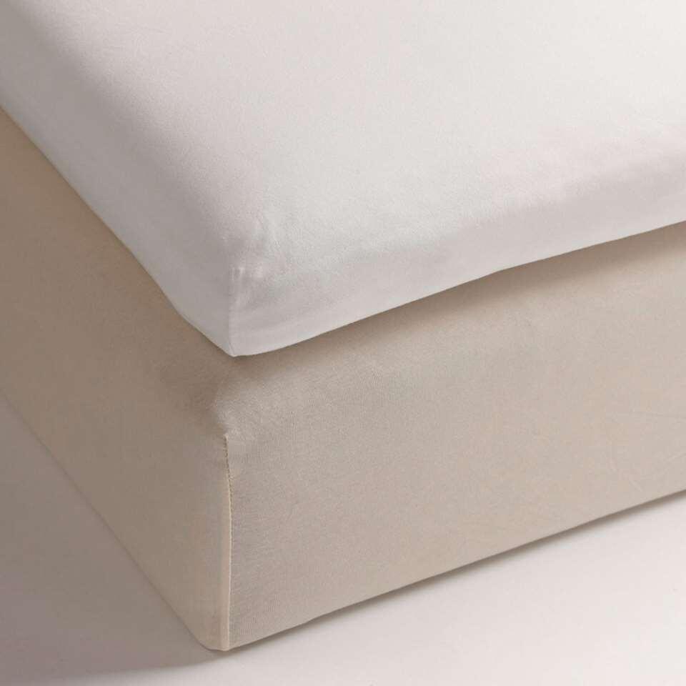 Heckett & Lane topper hoeslaken White - wit - 180x200 cm - Leen Bakker