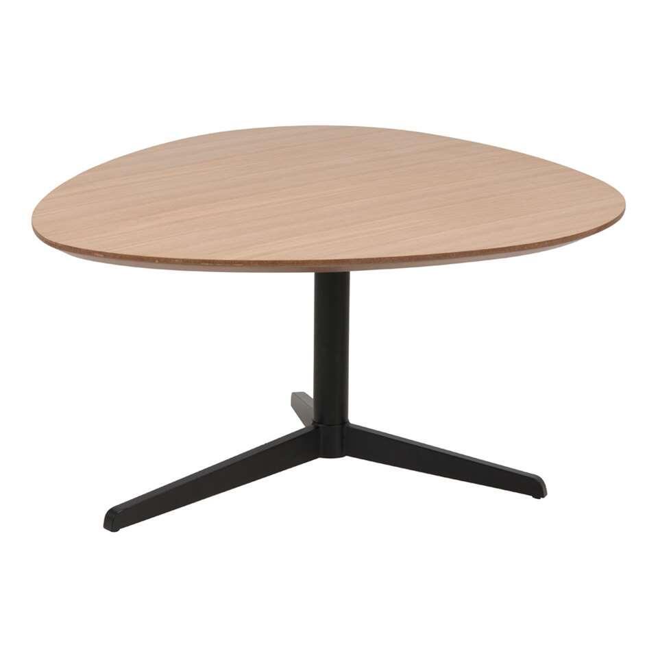 Salontafel Stadur - eikenfineer/zwart - 48x77x84 cm - Leen Bakker