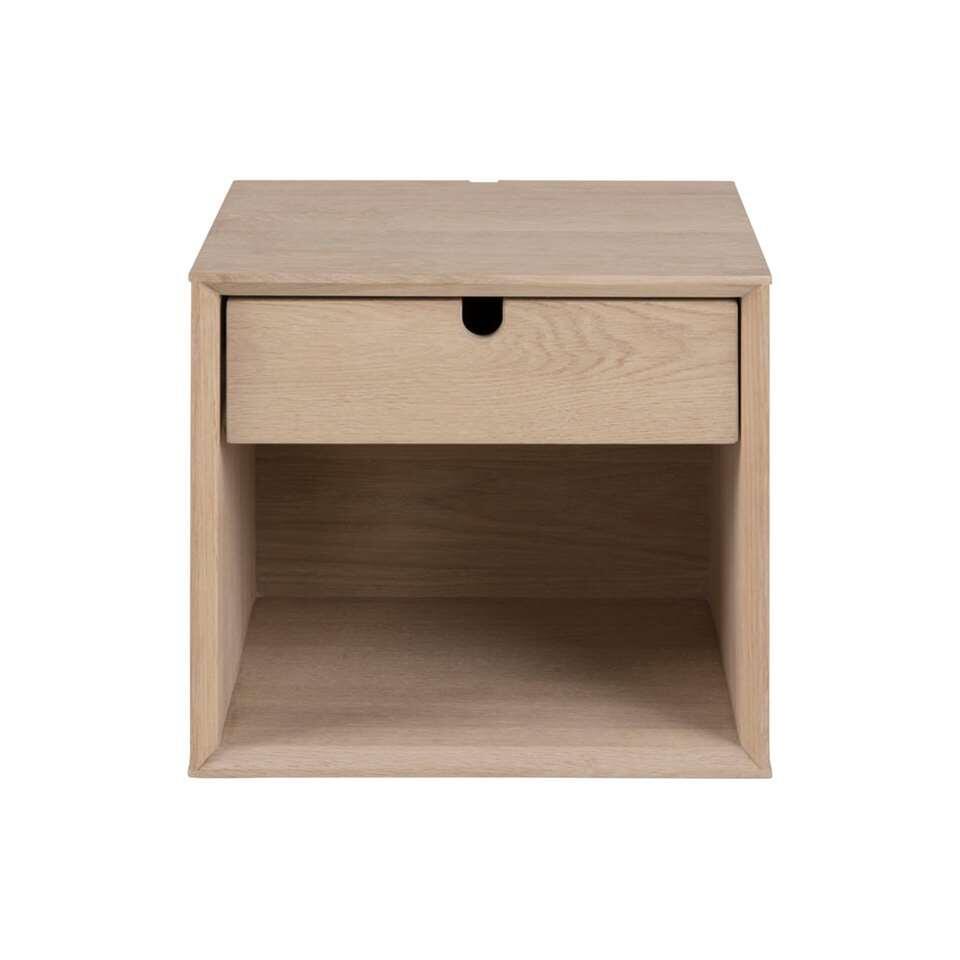 Nachtkastje Edsta - 1 lade - bruin - 33x32x37 cm