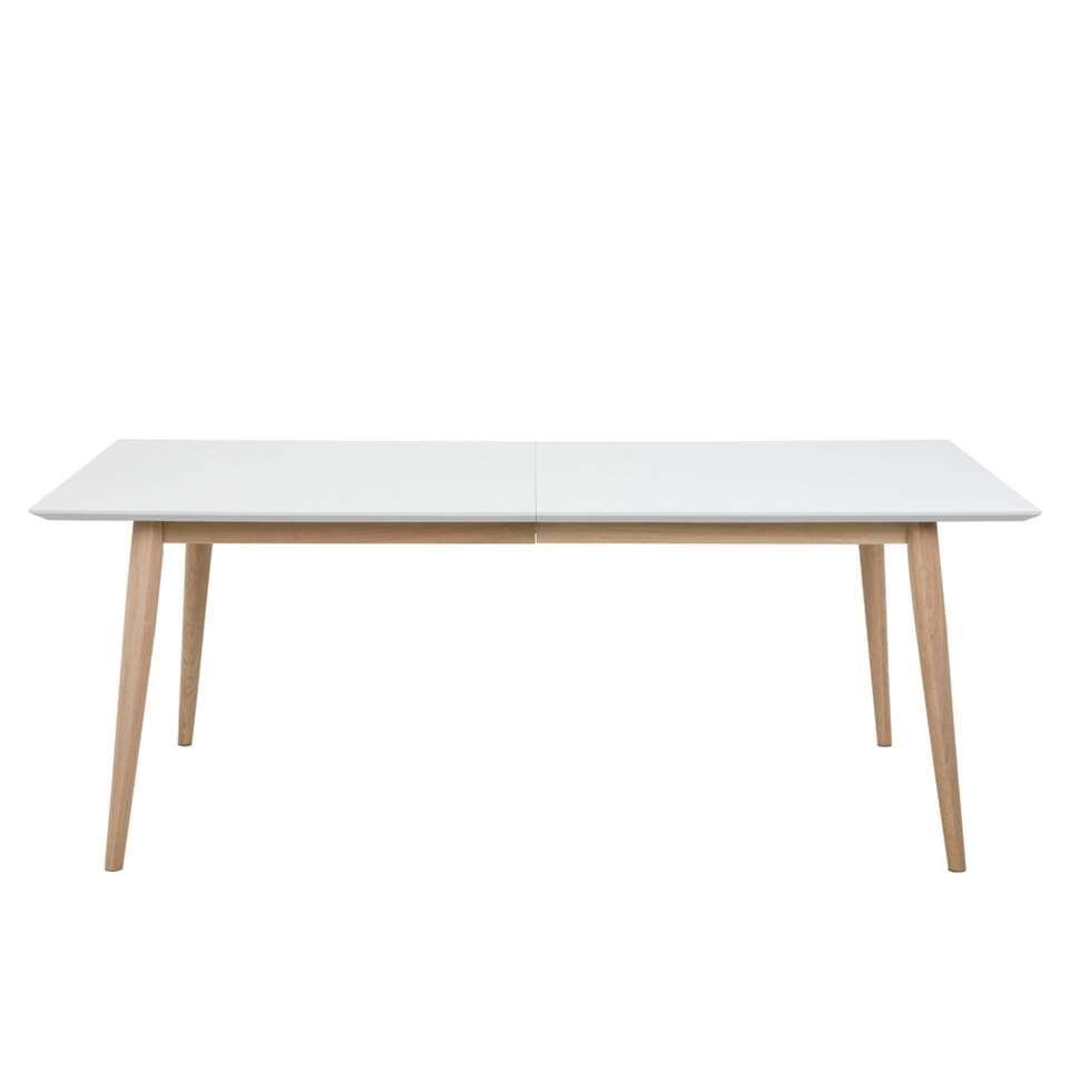 Eetkamertafel Edsta - wit - 75,3x100x200 cm - Leen Bakker