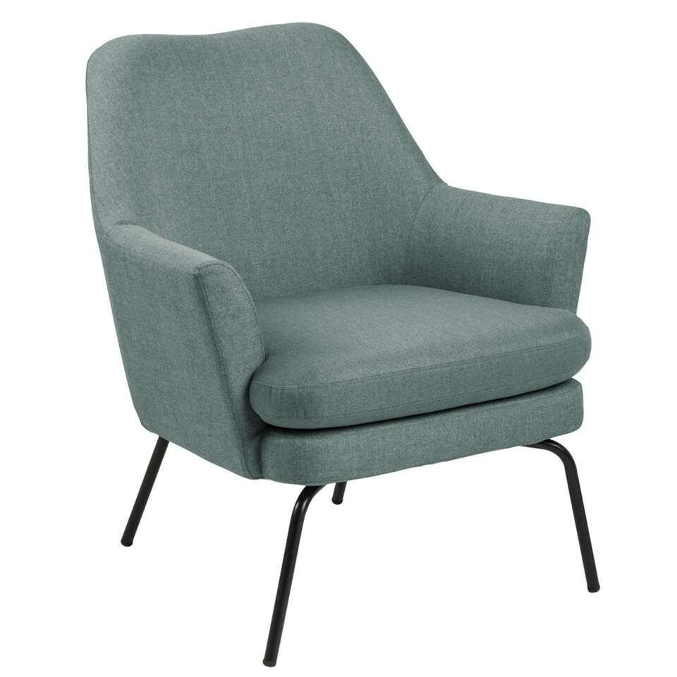 Relaxfauteuil Ulla - stof - grijsgroen