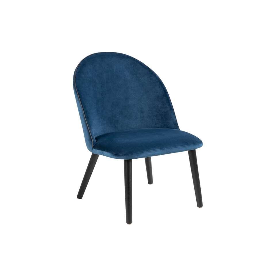 Fauteuil Kallsta - stof - blauw - Leen Bakker