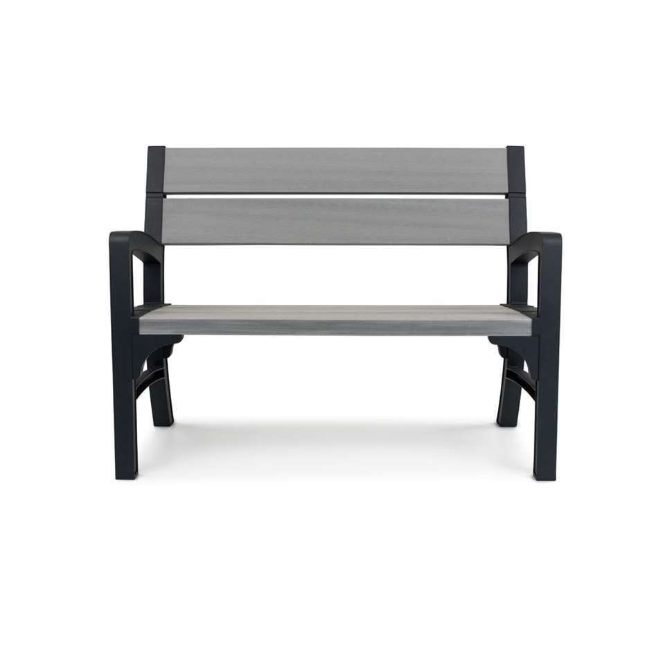 Allibert tuinbank Montero - grijs - 120x62x89 cm - Leen Bakker