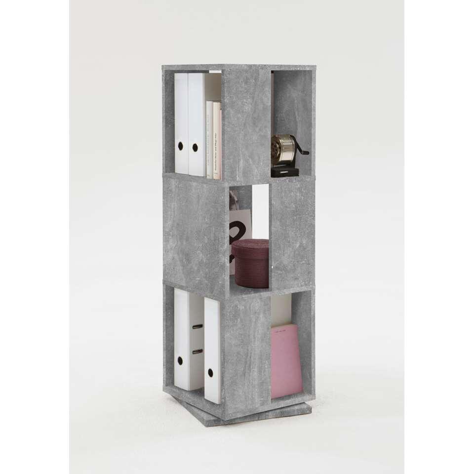 Kast draaibaar Tower betonkleur 34x108x34 cm Leen Bakker