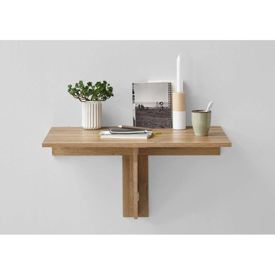 Salontafel/klaptafel Arta - oud eikenkleur - 80x44x51 cm - Leen Bakker