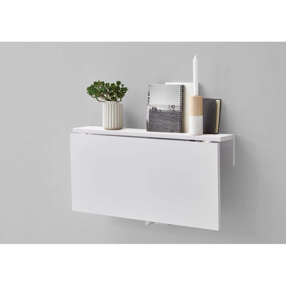 Wandplank/klaptafel Arta - brilliant wit - 80x44x51 cm