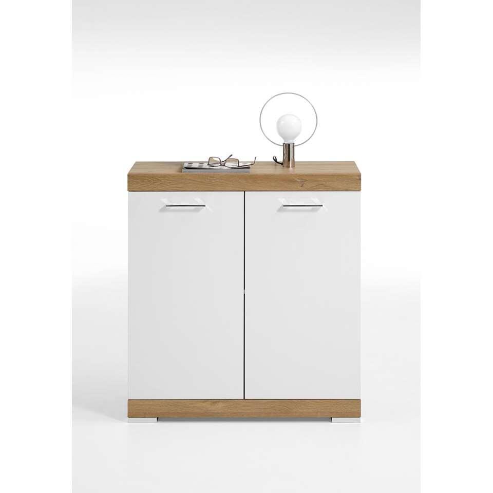 Commode Bristol - oud eikenkleur/wit edelglans - 80x90x35 cm