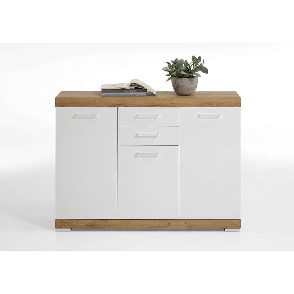 Commode Bristol - oud eikenkleur/wit edelglans - 120x90x35 cm
