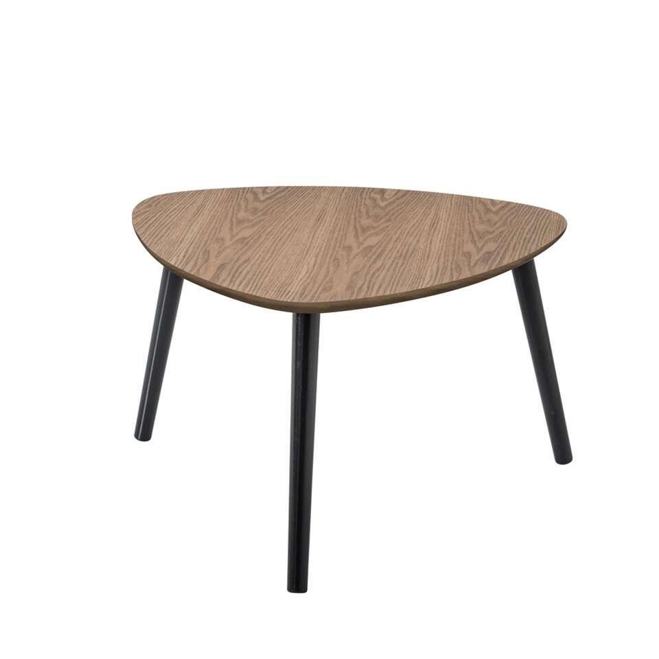 Demeyere salontafel Nomad - donker eikenkleur - 60x60x35 cm - Leen Bakker