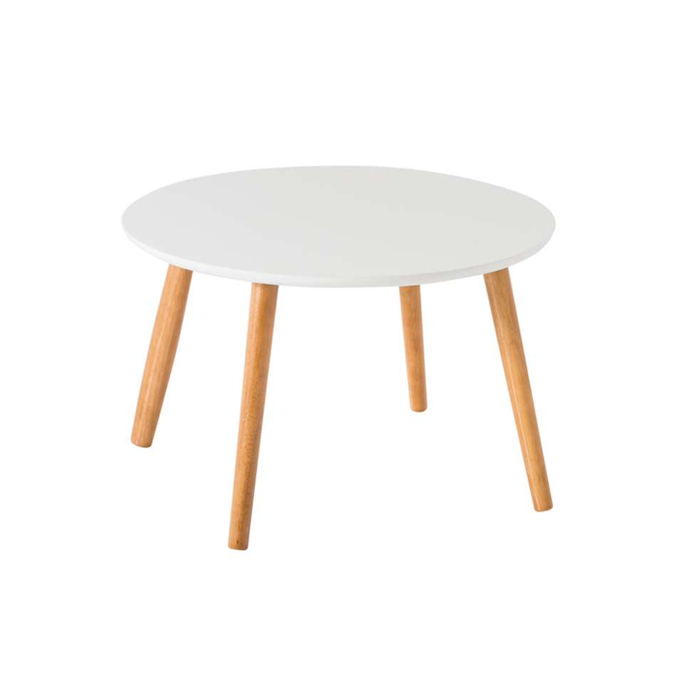 Demeyere salontafel Nomad - wit - Ø58x35 cm - Leen Bakker