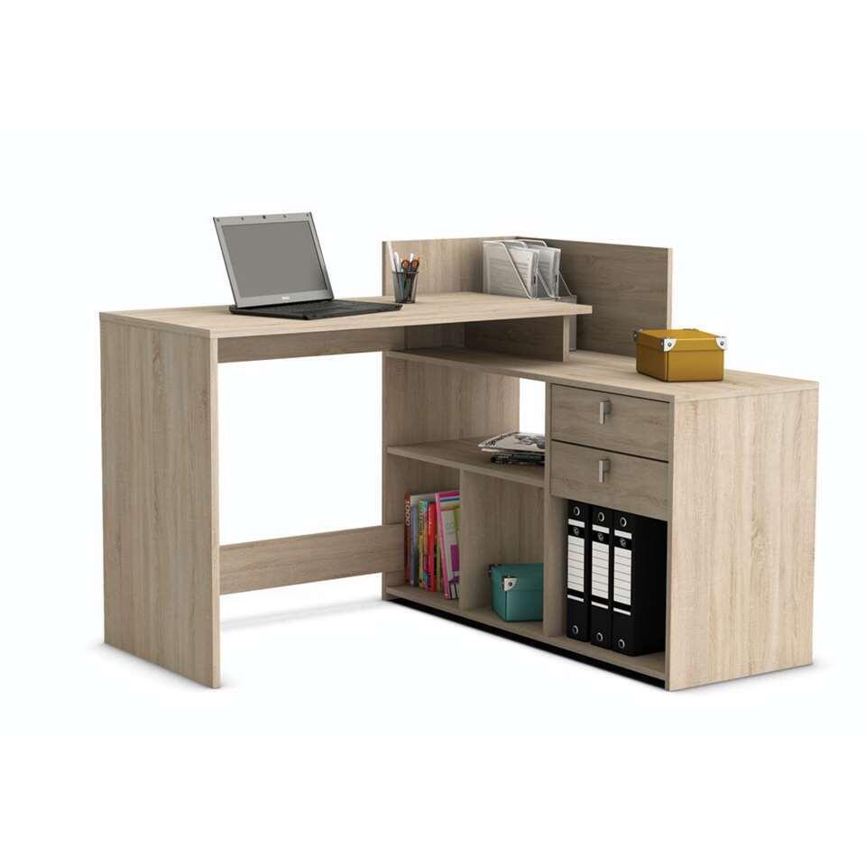 demeyere bureau vista licht eikenkleur 90 1x121x107 6 cm. Black Bedroom Furniture Sets. Home Design Ideas