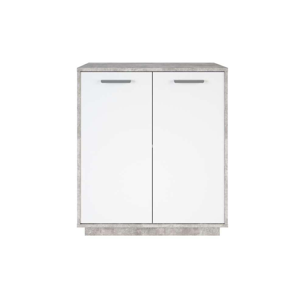 Demeyere rangement Leo - gris de béton/blanc - 86,1x76x36,8 cm