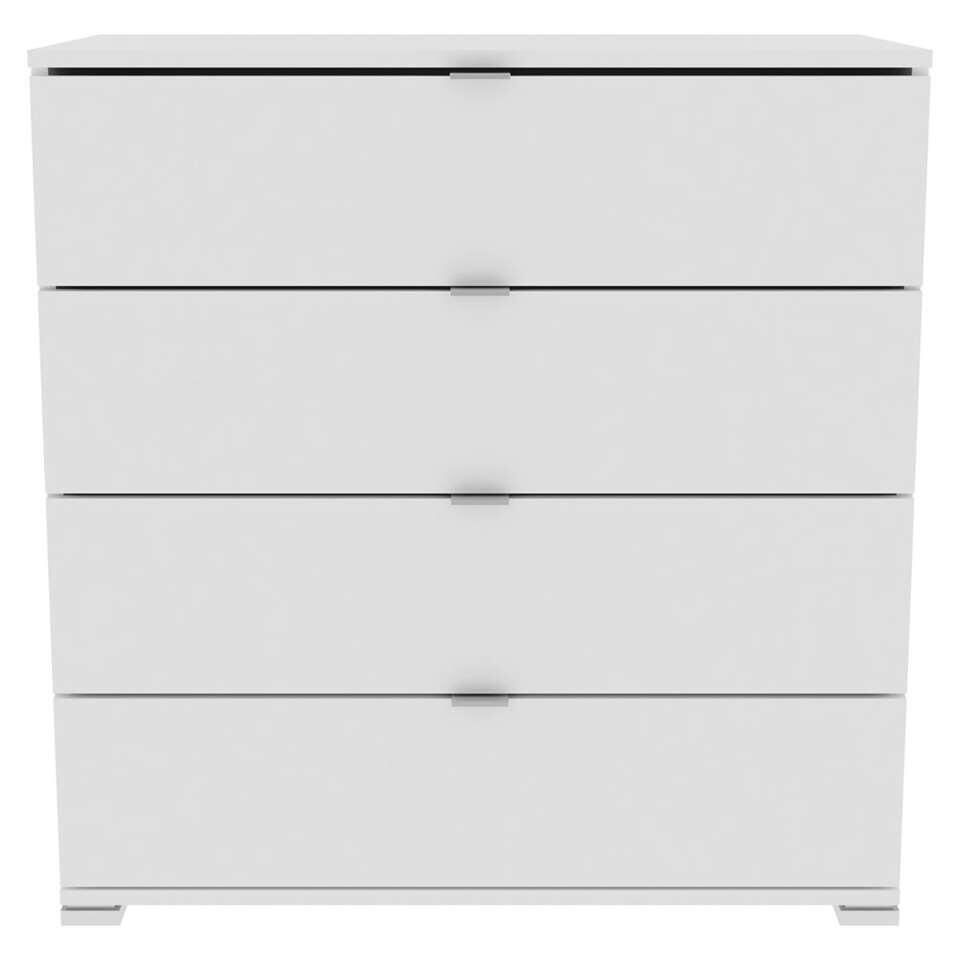 Demeyere dressoir Perfect 4 lades - wit - 82x120x42 cm - Leen Bakker