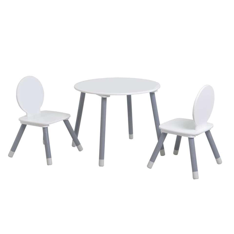 Demeyere tafel met stoeltjes Charlie 3-delig - wit - Leen Bakker