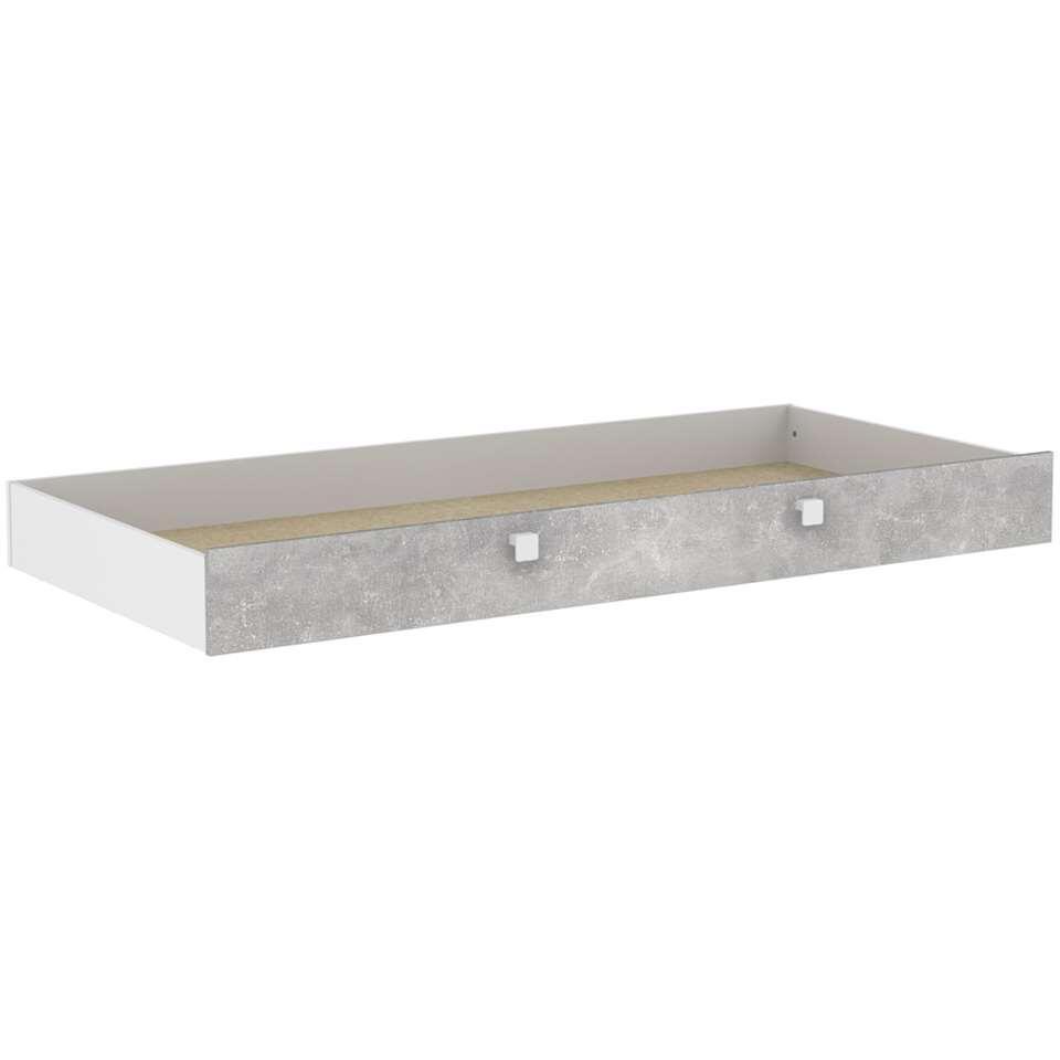 Demeyere bedlade Concrete - wit/betongrijs - 90x200 cm - Leen Bakker