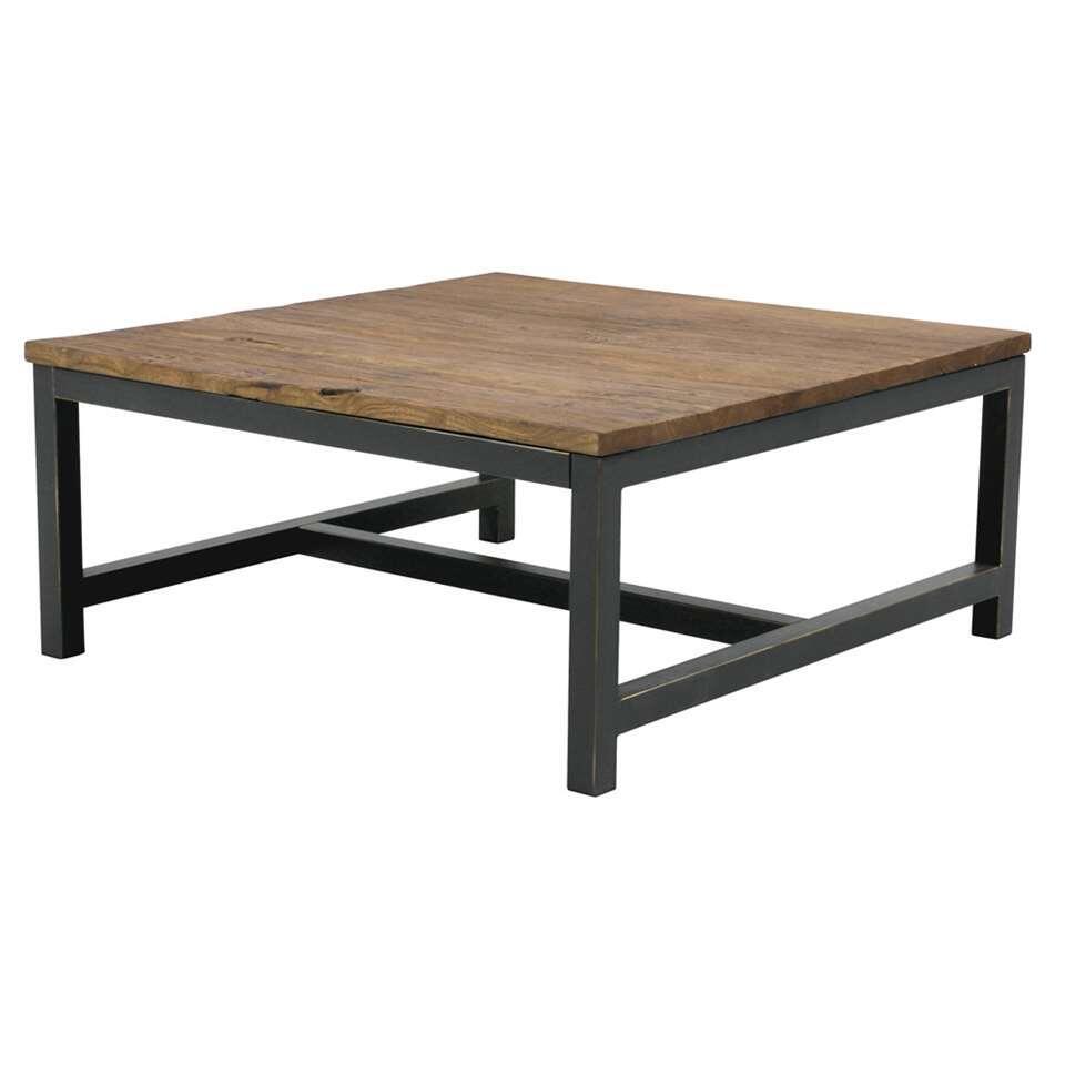 Salontafel Dean - bruin - 40x90x90 cm - Leen Bakker