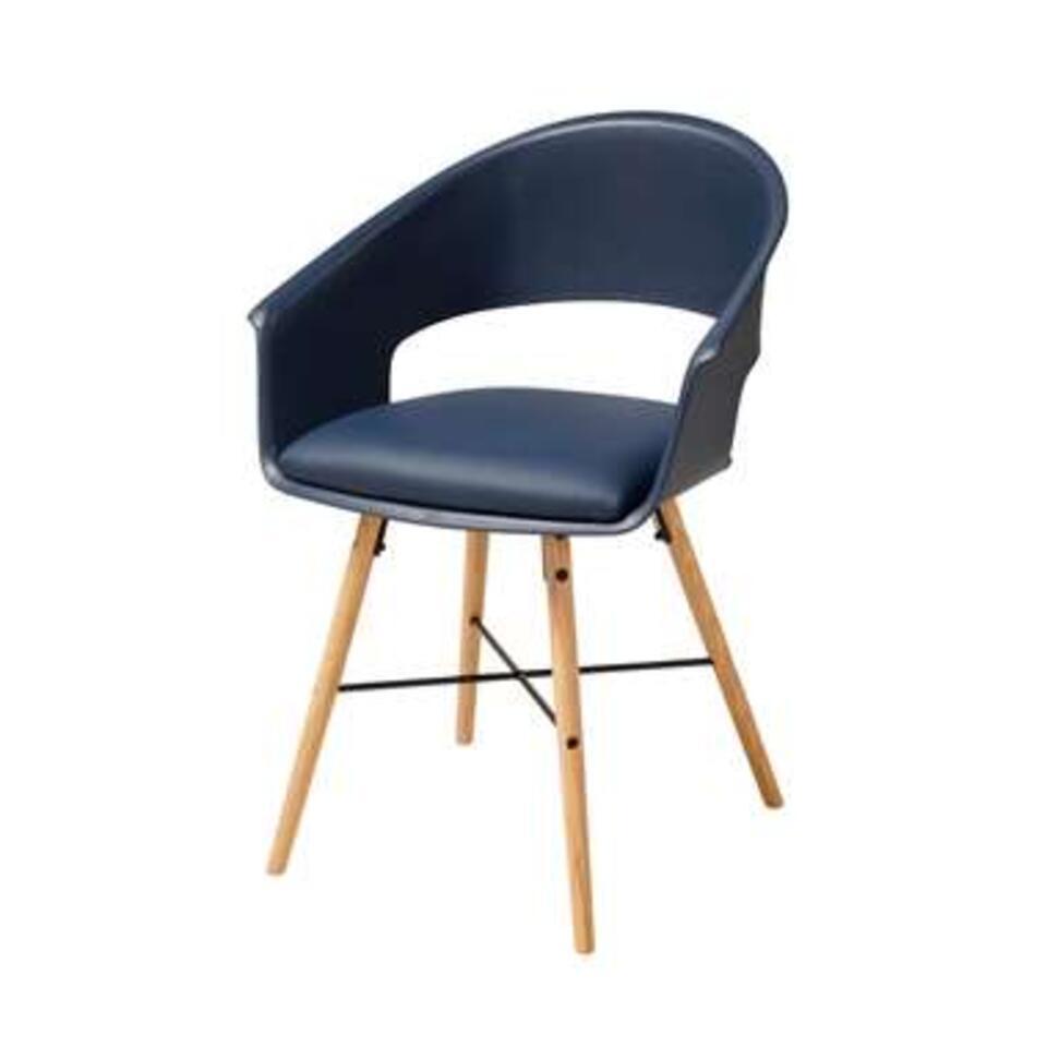 Eetkamerstoelen Sortland - kunststof - blauw (4 stuks) - Leen Bakker