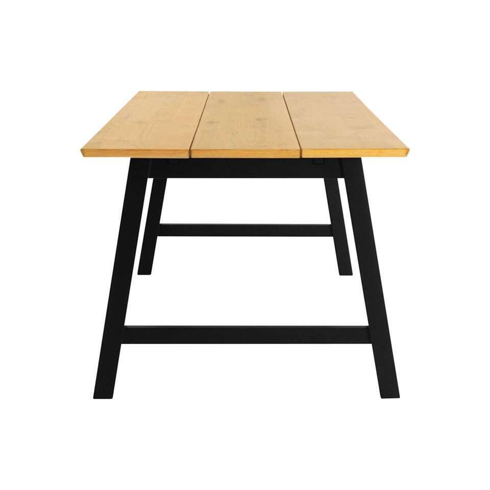 Eetkamertafel Lagan - bruin - 75x90x180 cm - Leen Bakker