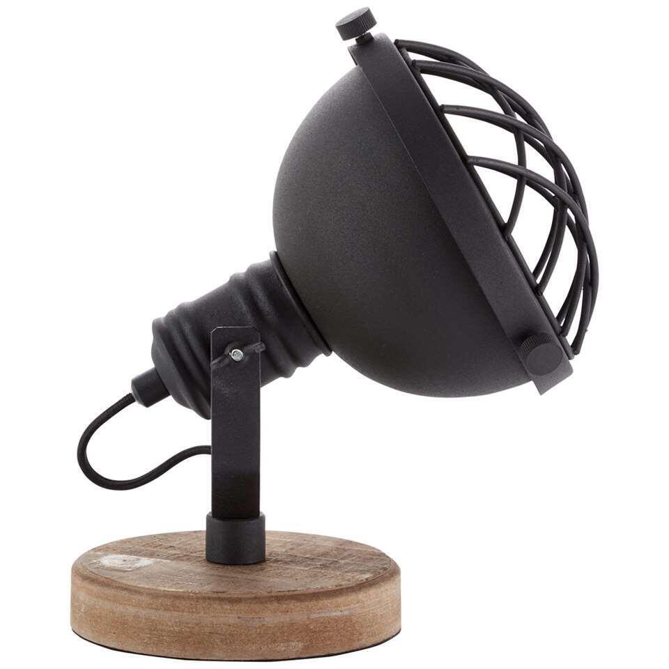 Brilliant tafellamp Mila - zwart/naturel - Leen Bakker