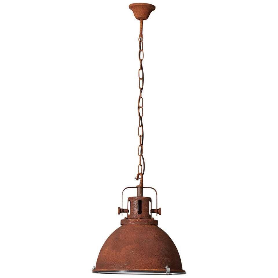 Brilliant hanglamp Jesper - roest - Ø38 cm - Leen Bakker