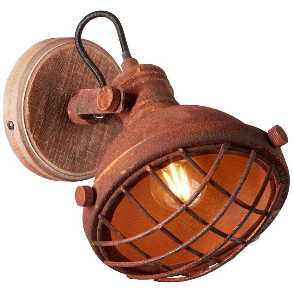 Brilliant wandlamp Mila - roest - Leen Bakker