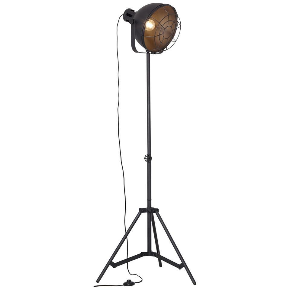 Brilliant vloerlamp Jesper - zwart - Leen Bakker
