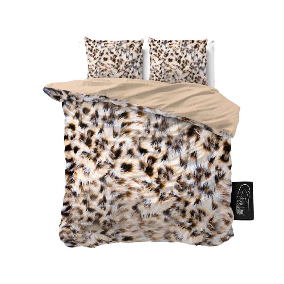 Sleeptime dekbedovertrek Cheetah Skin - taupe - 240x220 cm - Leen Bakker