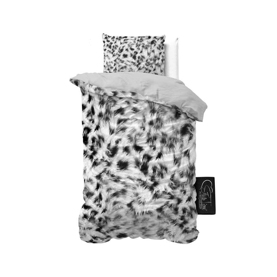 Sleeptime dekbedovertrek Cheetah Skin - grijs - 140x220 cm - Leen Bakker