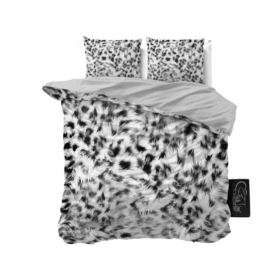 Sleeptime dekbedovertrek Cheetah Skin - grijs - 200x220 cm - Leen Bakker