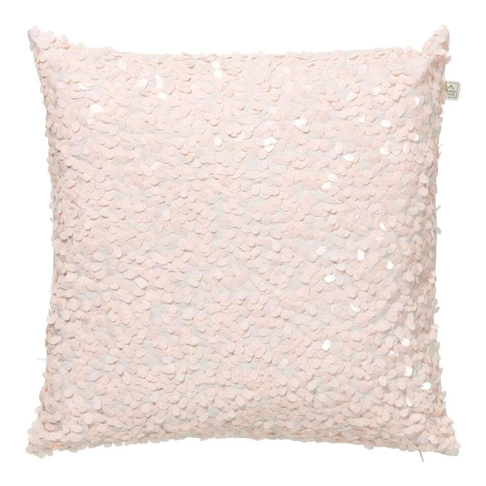 Dutch Decor sierkussen Lovuri – roze – 45×45 cm – Leen Bakker