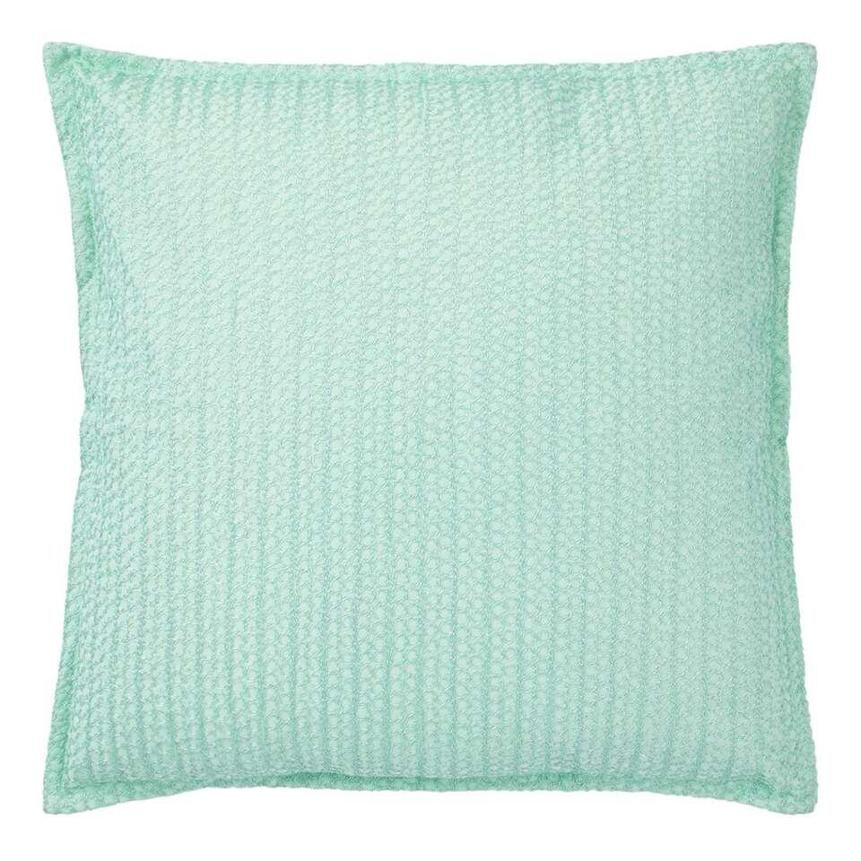 Dutch Decor sierkussen Tappe mint groen 45x45 cm Leen Bakker