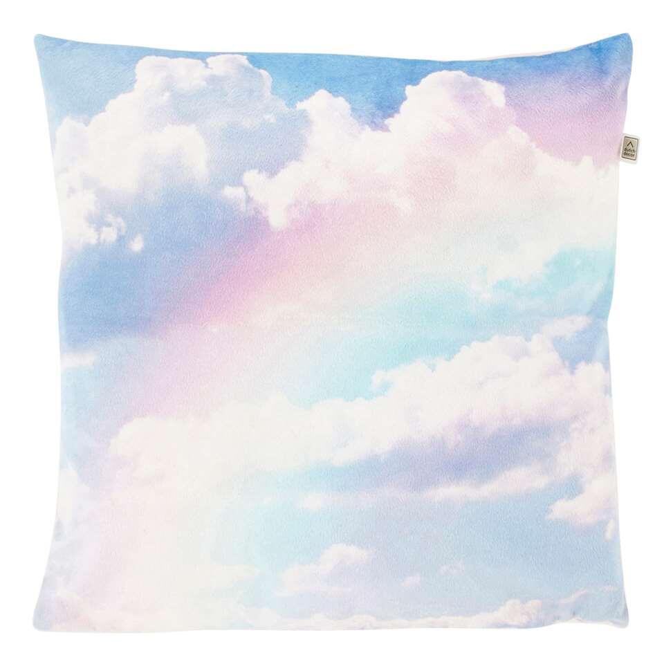 Dutch Decor sierkussen Rainbow - roze - 45x45 cm - Leen Bakker