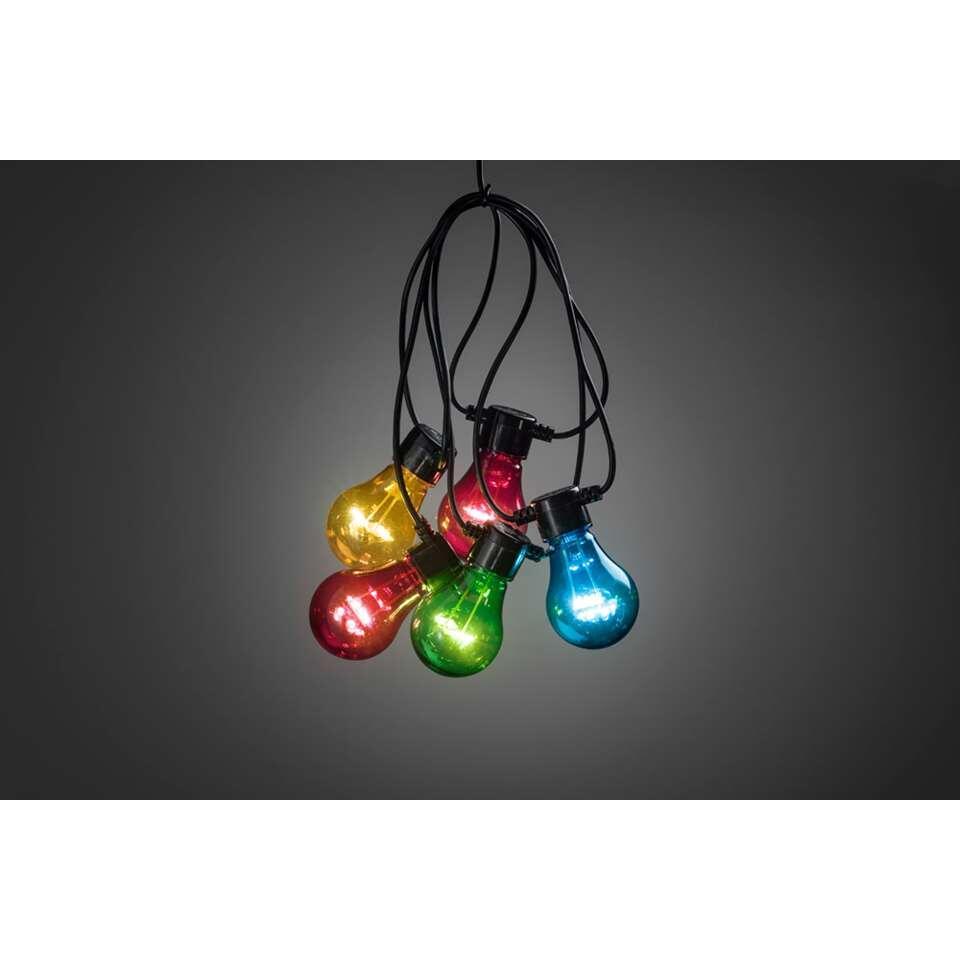 Konstsmide LED lichtsnoer Peer – 5 lampjes – 40 LED – multikleur – Leen Bakker