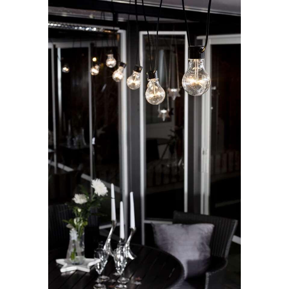 Konstsmide LED startsnoer koppelbaar Peer – 10 lampjes – 80 LED – warm wit – Leen Bakker