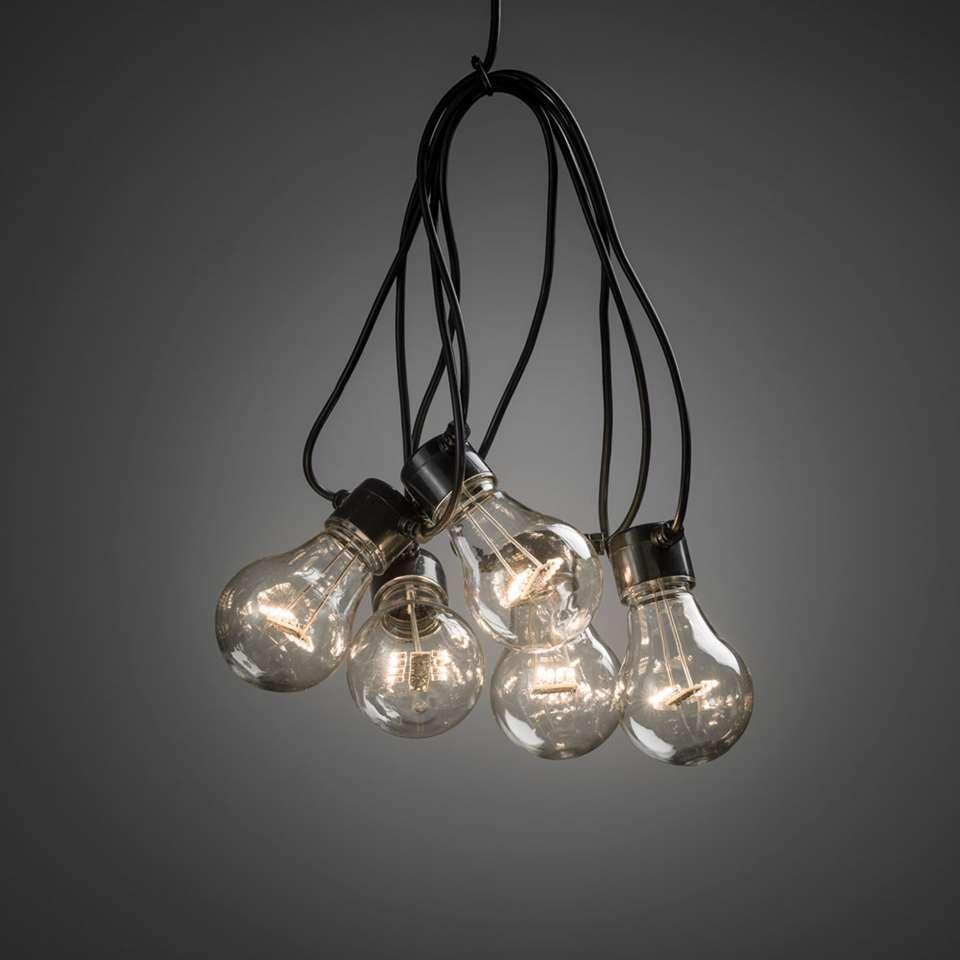 Konstsmide LED verlengsnoer koppelbaar Peer – 10 lampjes – 80 LED – warm wit – Leen Bakker
