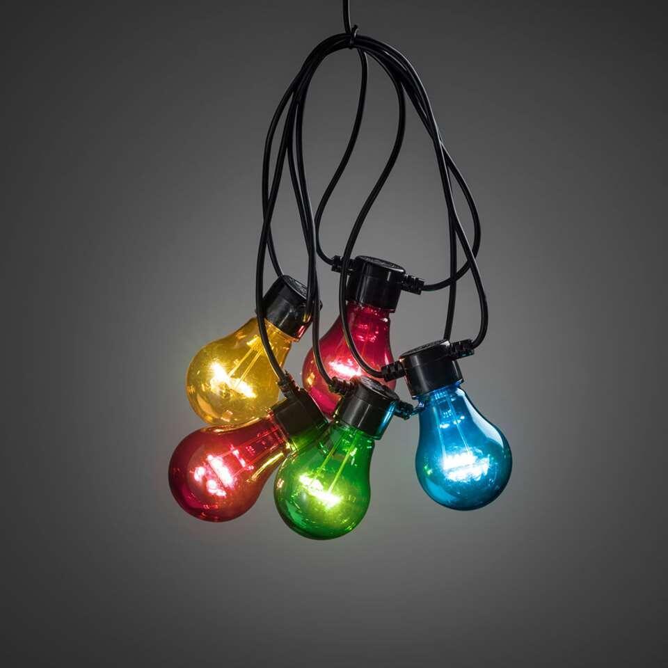 Konstsmide LED verlengsnoer koppelbaar Peer – 10 lampjes – 80 LED – multikleur – Leen Bakker
