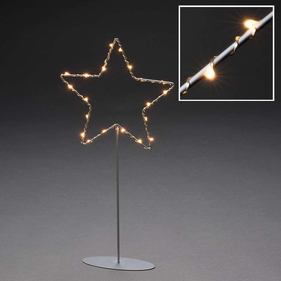 Konstsmide LED kerstster op voet - 40 cm - extra warm wit - Leen Bakker