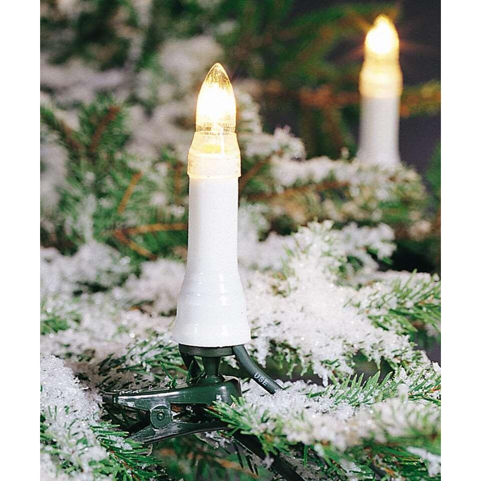 Konstsmide guirlande à bougies l'intérieur/l'extérieur - blanc chaud