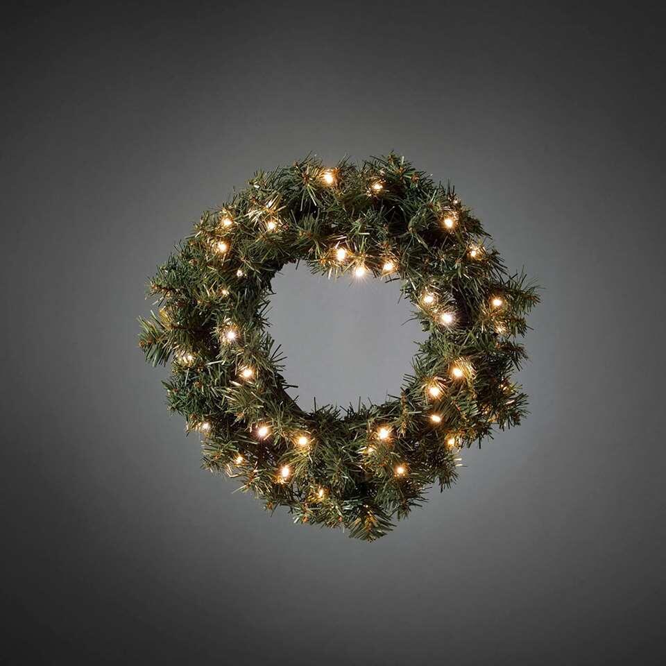 Konstsmide LED kerstkrans - 45 cm - extra warm wit - Leen Bakker