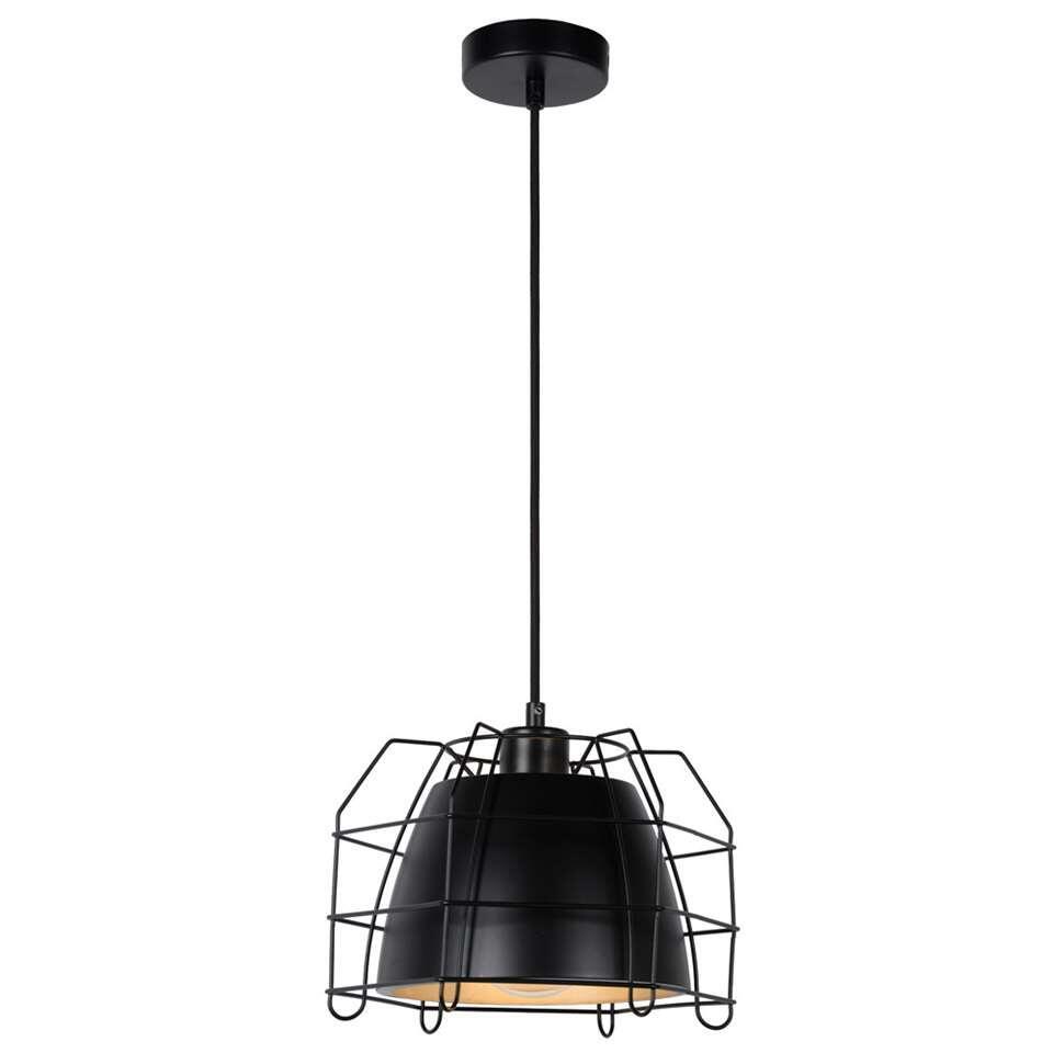 Lucide hanglamp Grid – zwart – Leen Bakker