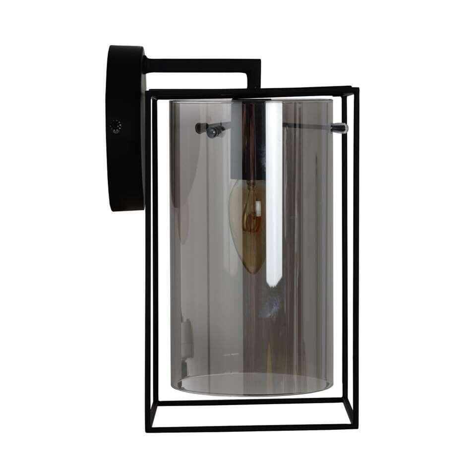 Lucide wandlamp Julot – zwart – Leen Bakker