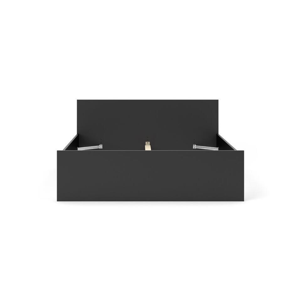 Bed Naia - mat zwart - 160x200 cm