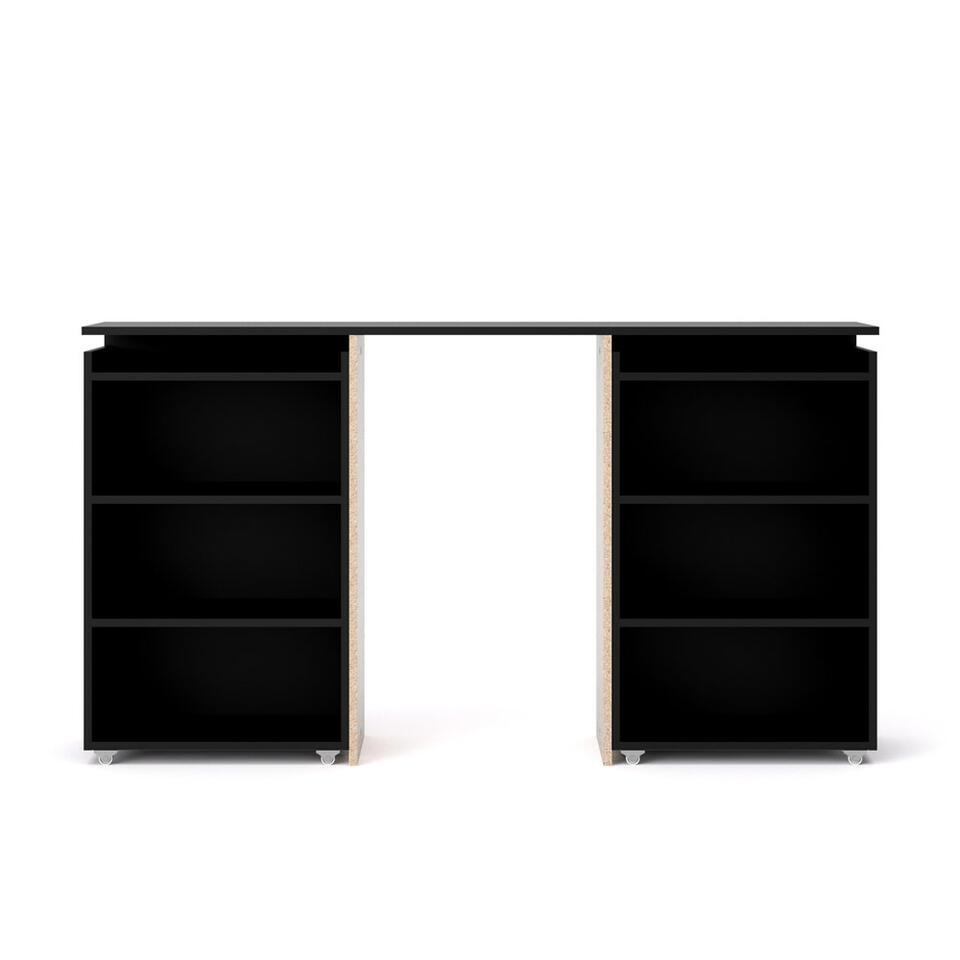 Bedombouw Naia - mat zwart - 160 cm